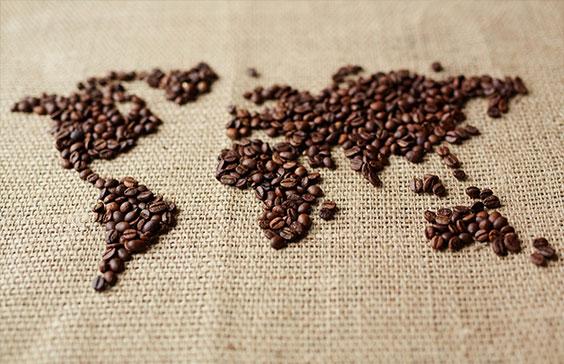 kawowa mapa świata