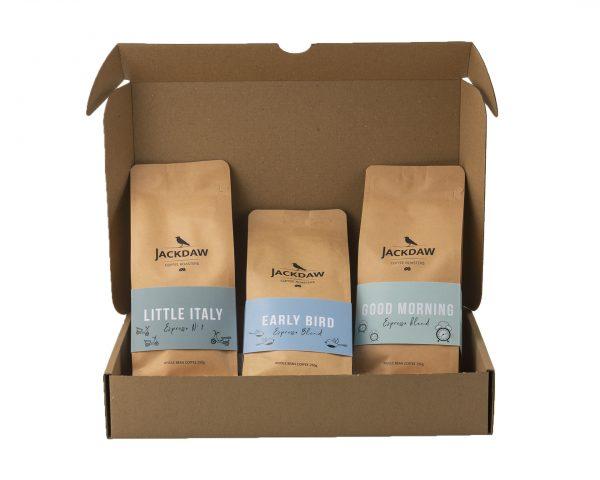 Zestaw świeżo palonych kaw na prezent