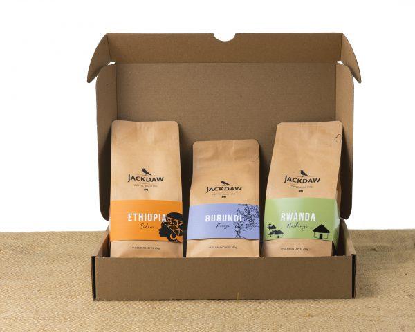 Zestaw 3 świeżo palonych kaw